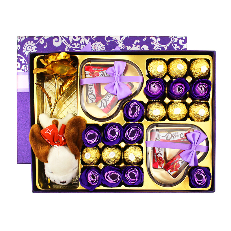 费列罗巧克力礼盒装生日西洋情人节跨年新年礼物德芙巧克力礼盒装