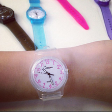 East gate of delta VISION Korea ulzzang cute transparent casual watch