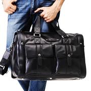 真皮旅行包男单肩手提大容量商务出差旅游短途牛皮行李包旅行袋