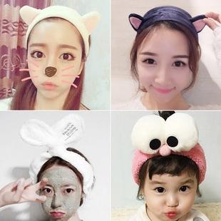 甜美韩国可爱兔猫耳朵发带宽边发饰洗脸发箍发卡日韩头巾女头饰品