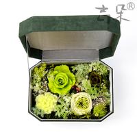 厄瓜多尔进口保鲜花永生花礼盒戒指盒生日圣诞节礼物全国速递J935