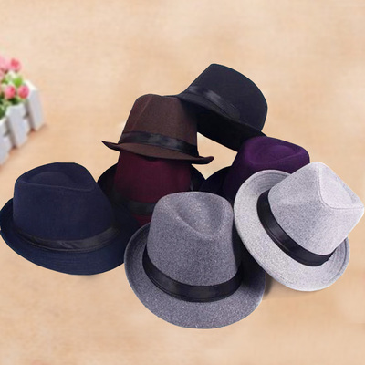 Casual wave of autumn and winter woolen hat hat male female street vintage hat warm hat outdoor jazz England