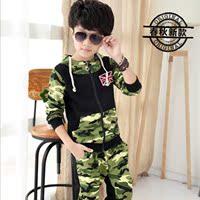 2015童装夏季套装中大男童米字袖两件套夏款韩版纯棉童套装4-15岁
