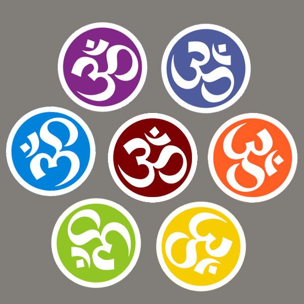 瑜伽时尚贴纸,om标志,瑜伽体式,瑜伽装饰,瑜伽用品促销小礼品