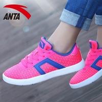 安踏女鞋秋季2016透气复古跑步鞋休闲鞋韩版学生运动鞋耐磨板鞋女