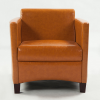 皮艺单人沙发  简约现代皮质懒人沙发椅子 咖啡厅网吧酒店单人位