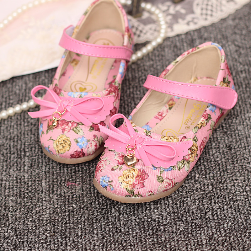 Children's shoes, girls shoes, princess shoes shoes Korean version of the new 2014 square mouth shoes cloth shoes show