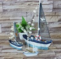 地中海风格帆船模型桌面小摆件工艺品摆设创意家居装饰品 包邮