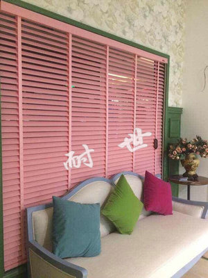 English Lang Sibu upscale cloth blinds venetian blinds 50mm solid color fabric blinds home office