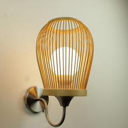 中式壁灯卧室床头灯简约现代竹壁灯过道灯田园灯创意个性艺术墙灯