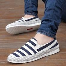 老北京布鞋男士一脚蹬懒人男鞋子豆豆夏季潮鞋潮流帆布鞋
