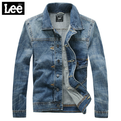 Lee denim jacket new fall 2014 men's jacket retro shirt Slim tide men's counters authentic