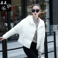 棉衣女短款冬季韩版连帽加厚羽绒棉服显瘦外套学院风小棉袄面包服
