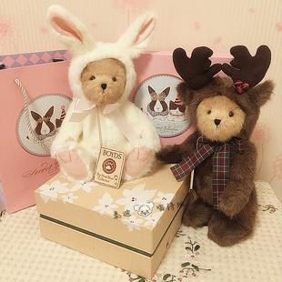 泰迪熊正品正版手工变身可爱兔子麋鹿玩偶小熊毛绒玩具结婚礼物