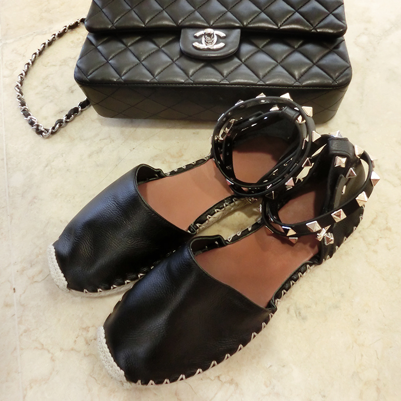 14 new home without purchasing Chinese fisherman flat heels shoes rivets straw bottomed leather shoes casual shoes Spot
