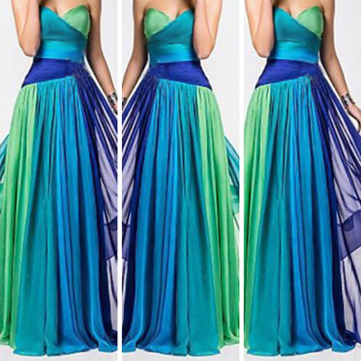 Long Bridesmaid Formal Party Dress Fashion Sexy Gown Dress