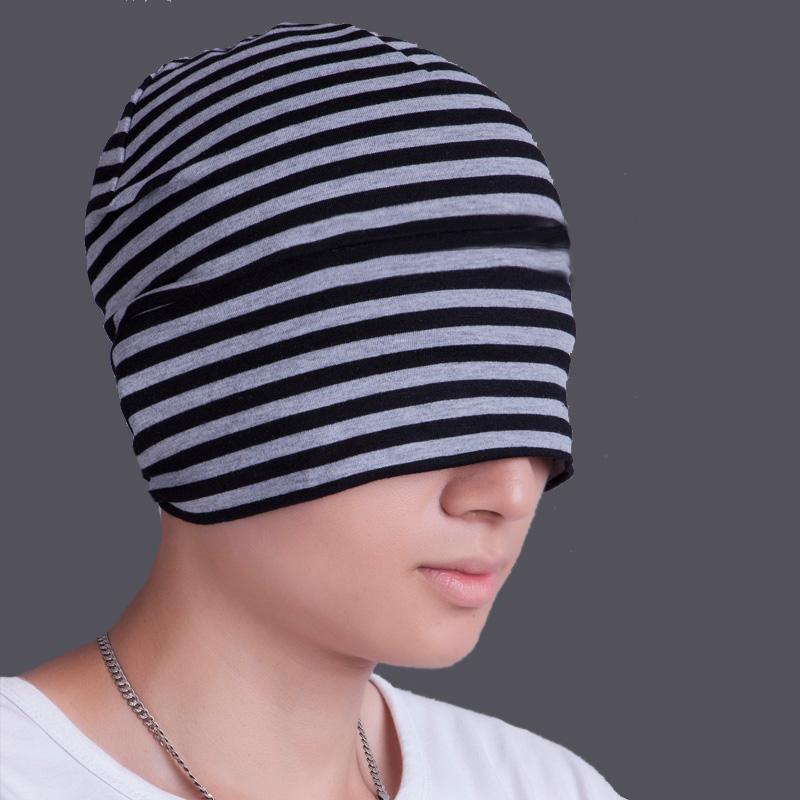 带兜鱼 男女夏秋针织居家帽子 套头巾帽 遮光睡帽,眼罩睡帽两用