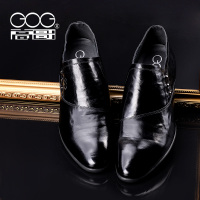 高哥增高鞋男士内增高6.5cm春季新款真皮男鞋商务正装套脚皮鞋男