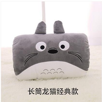 龙猫手捂手暖靠垫