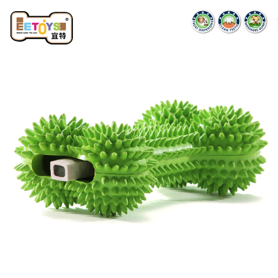 EETOYS IST rubber pet toys, interactive Tintin bone molar tooth cleaning can be loaded snacks attractant