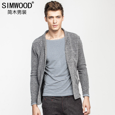 Jane Wood Men's Slim new winter men in Europe and America yuppie Fan solid cardigan jacket male tide thin coat