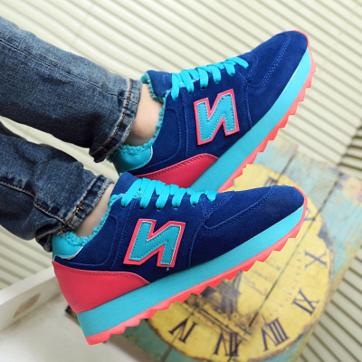 N word autumn and winter female plus cotton velvet trend for women increased NB N letters plus velvet sports shoes platform shoes within