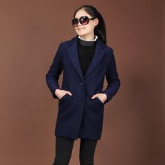 秋冬新品女装韩版原创中长款羊毛圈西服领外套女均码休闲厚实外套