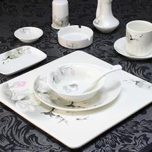 酒店用品陶瓷餐具摆台套装饭店四件套凯发k8娱乐手机版私人单位包厢新中式餐具