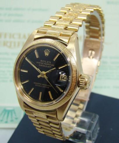 Винтажные наручные часы   Ebay ROLEX LADIES 18K YELLOW GOLD PRESIDENT
