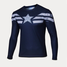2015 hit men riding captain America quick-drying movement breathable long-sleeved T-shirt straitjacket