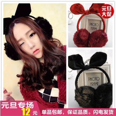 Korea ulzzang new winter warm earmuffs earmuffs cute rabbit ears warm earmuffs free shipping velvet jewelry