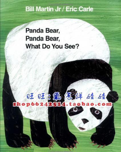 廖彩杏书单英文版/Panda Bear_What Do You See/Eric Carle赠音频