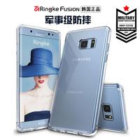 韩国RingKe三星Note7手机壳s7 edge保护套原装新款女挂绳硅胶防摔