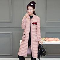 气质女装立领拉链门禁长袖保暖2016年冬季羽绒服