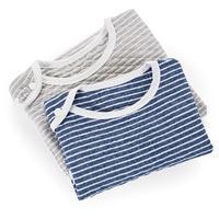 纯棉条纹透气环保印染婴幼儿防踢被马甲式按扣睡袋全棉不含甲醛