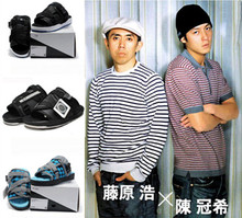 Edison Chen and 15 men and women leisure summer sandals fashion slippers slippers couples hiroshi one