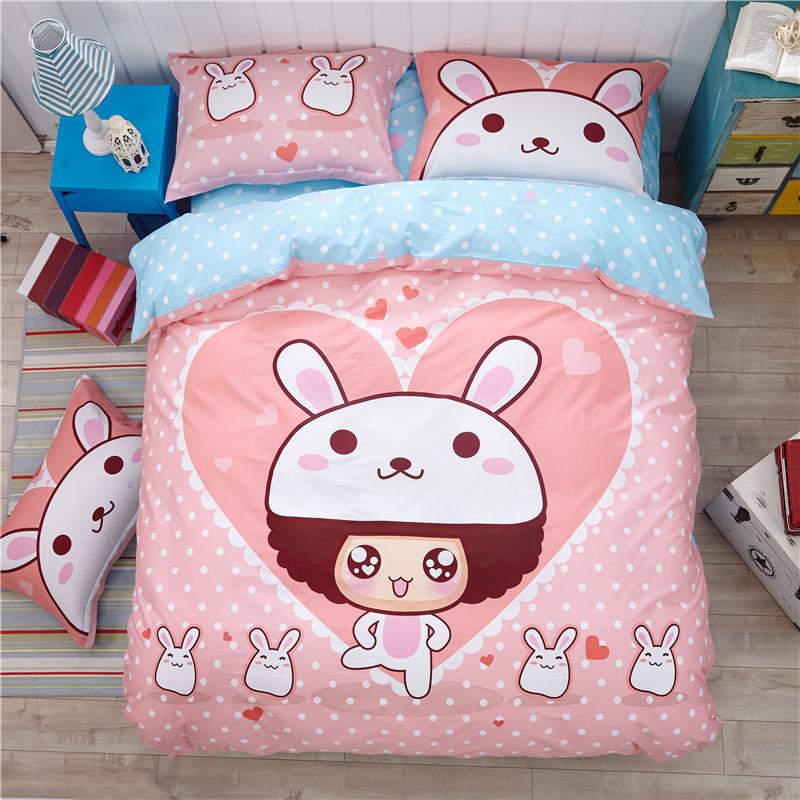 儿童四件套全棉1.5米卡通床品纯棉床上用品1.8被套女孩三件套1.2m