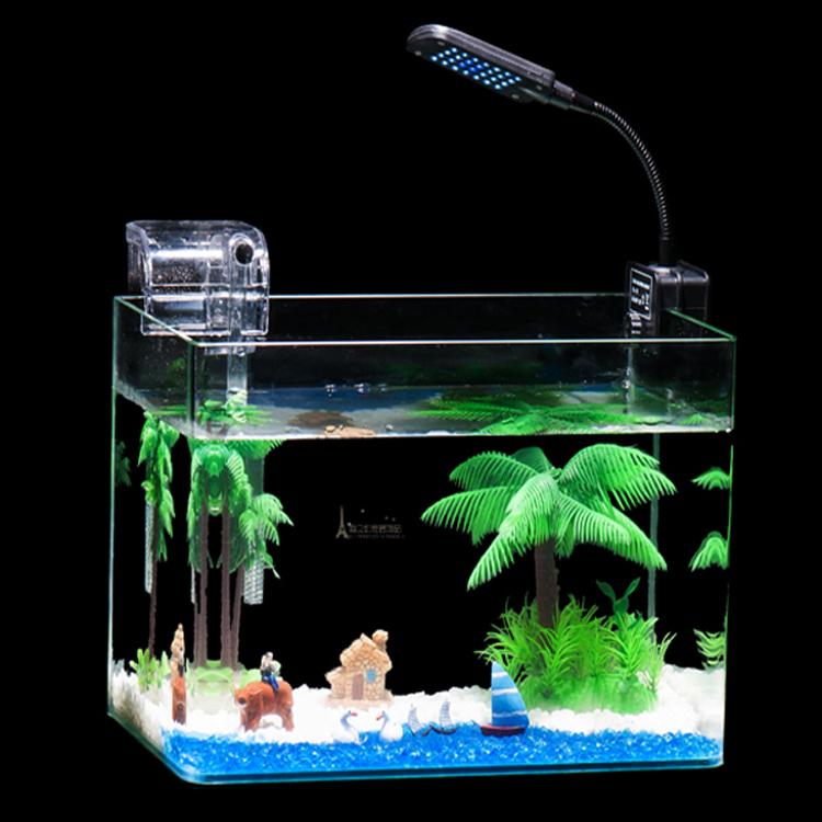 热带鱼鱼缸透明热弯小型办公金鱼缸方形玻璃鱼缸水族箱乌龟缸包邮图片