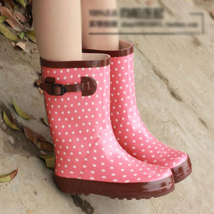 新款韩国雨鞋雨靴 女 时尚中筒水靴胶鞋 防滑大码水鞋母女款套鞋