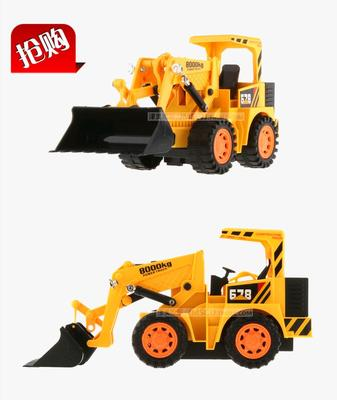 Remote control vehicle charging wireless remote control excavator digging bulldozer shoveling grab wooden roller machine