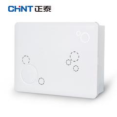 正泰多媒体集线箱弱电模块箱家用路由器信息箱光纤入户 白色空箱