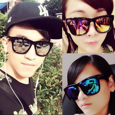 Mercury reflective sunglasses sunglasses eyewear eye star male and female couple influx of Korean version of the retro cool UV