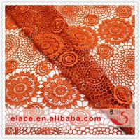 欧美水溶涤光蕾丝沙发餐桌布料 DIY镂空门帘唐装汉服装饰面料进口