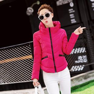 2015秋冬新款女士轻薄羽绒棉服正品大码韩版修身显瘦短款保暖外套