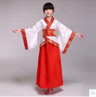 新款儿童古装演出服2014新款汉服女童万圣节仙女古典古筝舞蹈表演