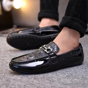 秋季豆豆鞋男士商务鞋皮鞋子男潮流男鞋透气懒人鞋男
