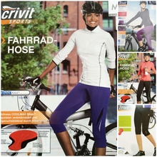German Crivit antibacterial female money coolmax pads breathable perspiration riding pants Automatic garage bike pants