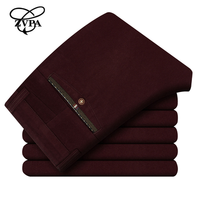 zvpa autumn and winter warm thick velvet corduroy trousers corduroy slacks men Slim straight trousers