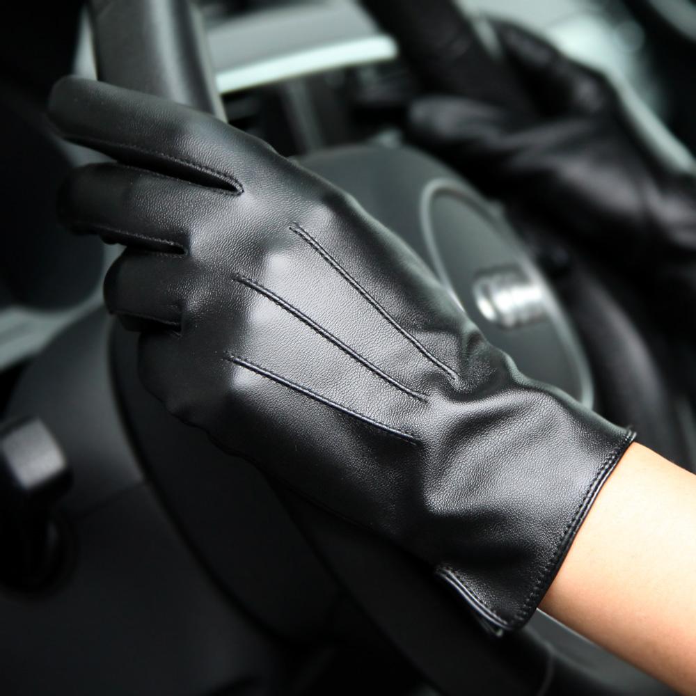 手套女士触屏PU皮冬季加绒保暖骑行户外开车修手包邮加厚女皮手套