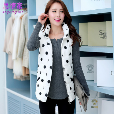 The new 2014 winter long section Slim really thick ultra-warm hooded jacket vest A version of Ms.